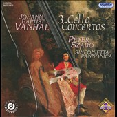 Johann Baptist Vanhal: Three Cello Concertos