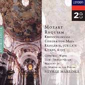 Mozart: Requiem, etc / Marriner, Cotrubas, Watts, Tear