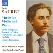 Emile Sauret: Music For Violin & Piano / Michi Wiancko, violin; Dina Vainshtein, piano
