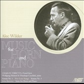 Alec Wilder: Music for Horn & Piano / Charles Tibbetts, horn; Heinzel & Cecchini, pianists