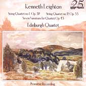 Leighton: String Quartets, Variations / Edinburgh Quartet