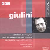 Bruckner, Mussorgsky, Falla / Giulini, Philharmonia