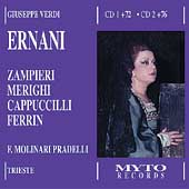 Verdi: Ernani, etc / Molinari-Pradelli, Zampieri, Merighi