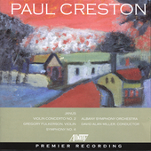 Creston: Symphony no 4, etc / Miller, Albany SO