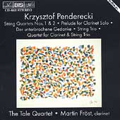 Penderecki: String Quartets, etc / The Tale Quartet, Fröst