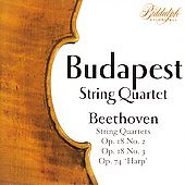 The Budapest String Quartet Plays Beethoven Vol 1