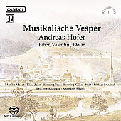 Musikalische Vesper - Hofer, Biber, etc / Siedel, Mauch