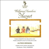 Mozart: Piano Concertos, KV 453 & 595 / Alfred Brendel, piano; Vienna State Opera Orch., Paul Angerer