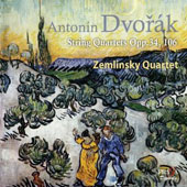 Dvor&#225;k: String Quartets Opp. 34, 106 / Zemlinsky Quartet