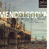 Mendelssohn: Symphonies no 3 & 4 / Muti, Tennstedt, et al