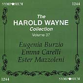 Harold Wayne Collection Volume 37 - Burzio, Carelli, et al