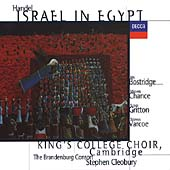 Handel: Israel in Egypt / Bostridge, Chance, Cleobury, et al