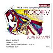 Prokofiev: Complete Piano Music Vol 6 / Boris Berman
