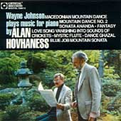 Hovhaness: Macedonian Mountain Dance, etc / Wayne Johnson