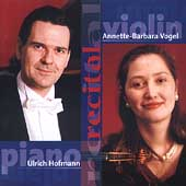 Enescu, Reger, Brahms, Lutoslawski: Works for Violin and Piano / Annette-Barbara Vogel, Ulrich Hofmann