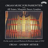 Organ Music for Passiontide - Bach, et al / Arthur