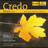 Mozart: Credo Mass / Knubben, Schlick, et al