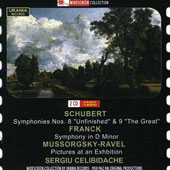 Schubert: Symphonies nos 8 & 9; Franck: Symphony in D minor; Ravel: Pictures (rec. 1958-1962) Celibidache