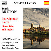 Bretón: Piano Trio in E, etc / LOM Piano Trio