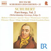 Deutsche Schubert Lied Edition 33 - Part Songs Vol 2 / Rubens, Schwarz, Jakobi, et al
