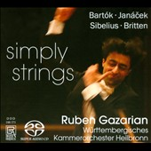 Simply Strings / works by Bartok, Janacek, Sibelius & Britten