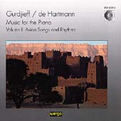 Gurdjieff/De Hartmann: Music for the Piano Vol 1