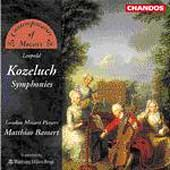 Kozeluch: Symphonies / Bamert, London Mozart Players