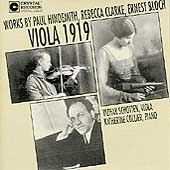 Viola 1919 - Hindemith, Clarke, Bloch / Schotten, Collier