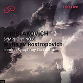 Shostakovich: Symphony no 8 / Rostropovich, London SO