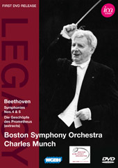Beethoven: Symphonies 4 & 5 / Munch/Boston SO [DVD]