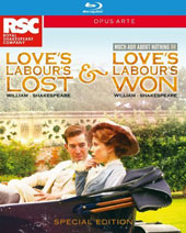 William Shakespeare: Love's Labour's Lost / Love's Labour's Won or Much Ado About Nothing (Recorded live at the Royal Shakespeare Theatre, Stratford-upon-Avon, March 2015) [2 Blu-ray]