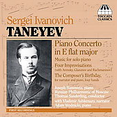 Taneyev: Piano Concerto, Piano Music / Sanderling, Ashkenazy