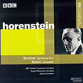 Bruckner: Symphony no 3;  Busoni / Horenstein, et al