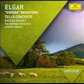 Elgar: Enigma Variations; Cello Concerto / Mischa Maisky, cello; Sinopoli, Philharmonia Orch.