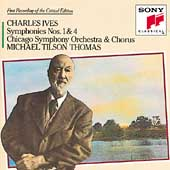 Ives: Symphonies no 1 & 4 / Thomas, Chicago SO & Chorus