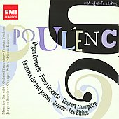 Poulenc: Organ Concerto, Piano Concerto, Les biches, etc / Tacchino, Dervaux, et al