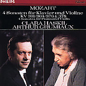 Mozart: 4 Sonatas for Piano and Violin / Grumiaux, Haskil