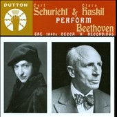 Carl Schuricht & Clara Haskil Play Beethoven: The 1940s Decca 'K' Recordings / Clara Haskil, piano