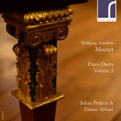 W.A. Mozart: Piano Duets, Vol. 1 / Julian Perkins and Emma Abbate, fortepianos