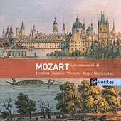 Veritas - Mozart: Symphonies 38-41 / Norrington, et al