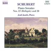 Schubert: Piano Sonatas no 15 and 20 / Jen&ouml; Jand&oacute;