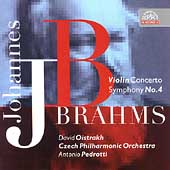 Brahms: Violin Concerto, etc / Pedrotti, Oistrakh, Czech PO