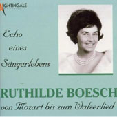 Echo eines S&auml;ngerlebens / Ruthilde Boesch