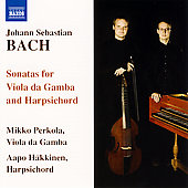 Bach: Sonata for Viola da Gamba / Perkola, Hakkinen