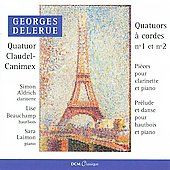 Delerue: Quartet no 1 for Strings, Prelude and Dance, etc / Claudel-Canimex Quartet, Aldrich, et al