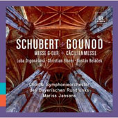 Schubert: Mass in G minor; Gounod: St. Cecilia Mass / Luba Orgonasova, Christian Elsner, Gustav Belacek
