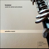 Franz Krommer: Sinfonia Concertante, Op. 70 for clarinet & orchestra; Clarinet Concerto / Dimitri Ashkenazy, clarinet