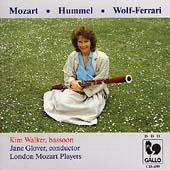Mozart, Wolf-Ferrari, Hummel: Bassoon Concertos / Kim Walker