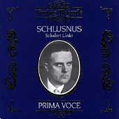 Prima Voce - Schlusnus Sings Schubert Lieder