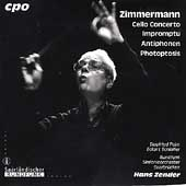 Hans Zender Edition Vol 10 - Zimmermann: Cello Concerto, etc
